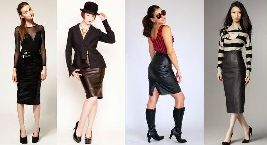 Мода: с чем носить кожаную юбку?