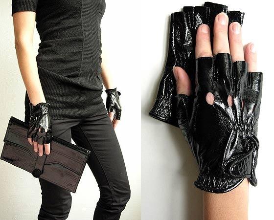 перчатки без пальцев с чем носить фото