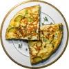 Омлет с плавленым сыром и пряной зеленью
