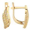 Модные позолоченные серьги с фианитом — изысканно и со вкусом